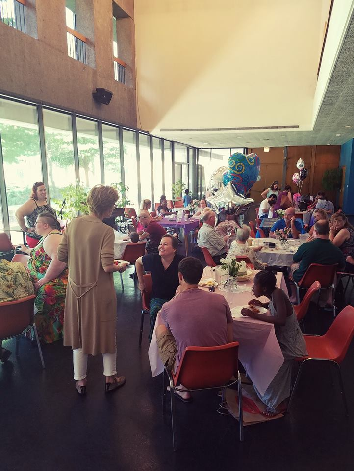 A party in the refectory